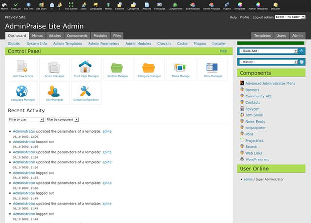 how to get the worlds fastest joomla admin template