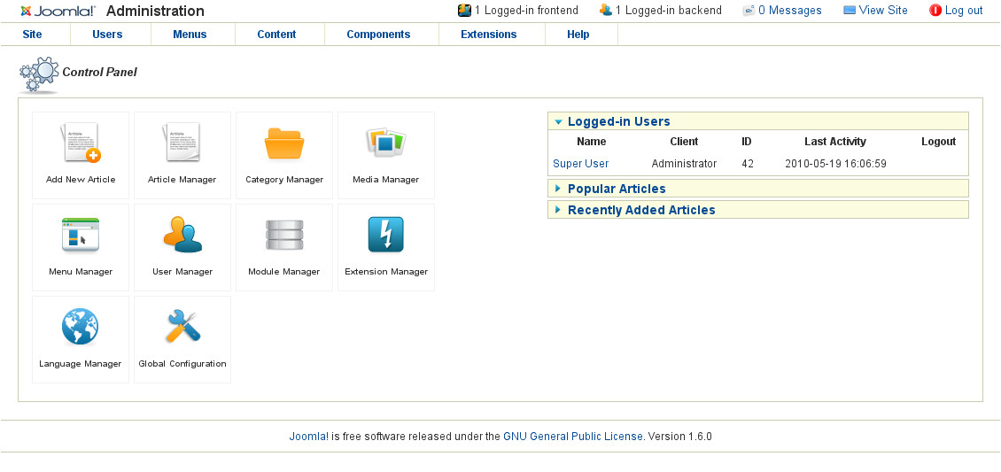 joomla 1 6 beta 1 angetestet