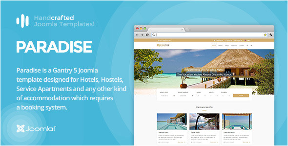 Joomla Hotel Booking Template It Paradise Gantry 5 Hotel Booking Joomla Template