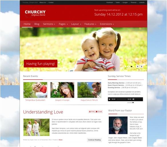 church joomla templates
