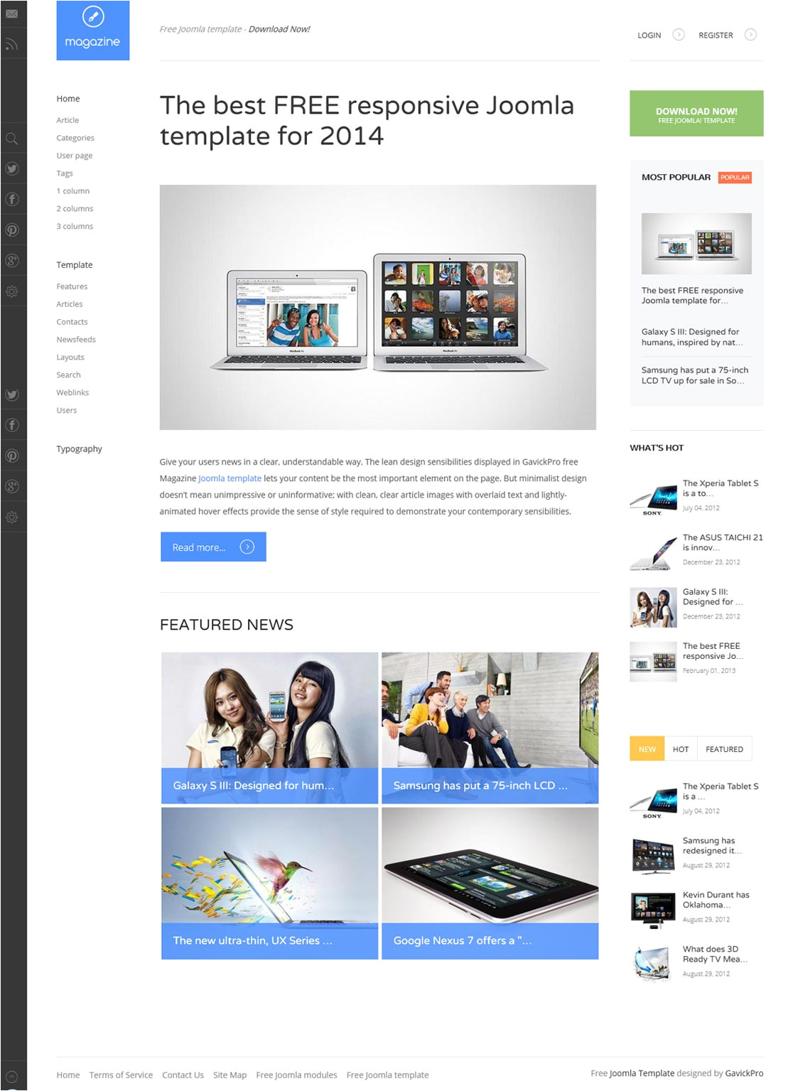 12 beautiful joomla 3 2 responsive templates free to use for websites