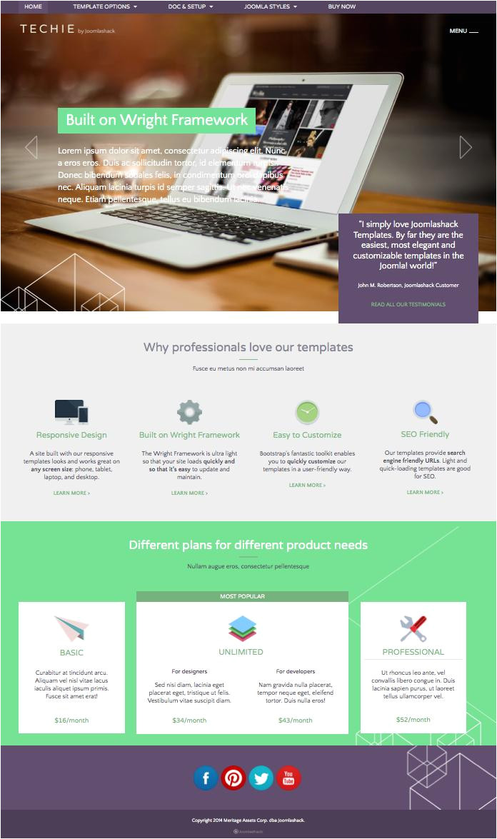 joomla technology templates