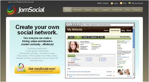 create social network using joomla open source