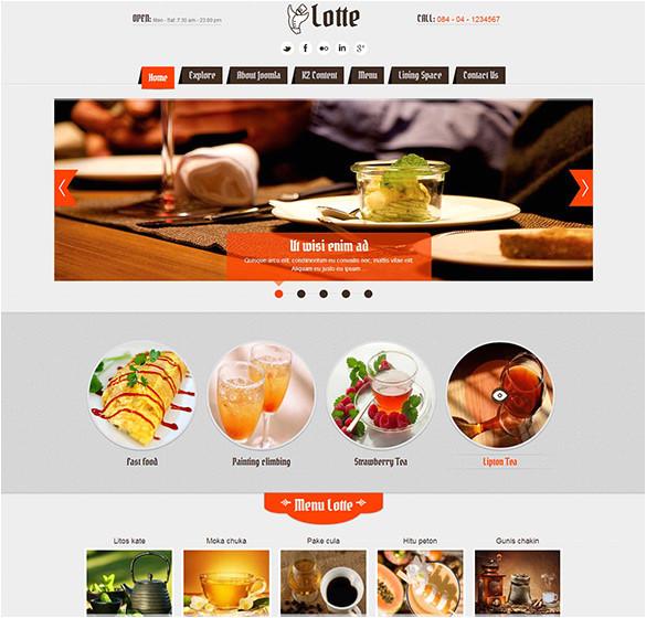 restaurant templates for joomla