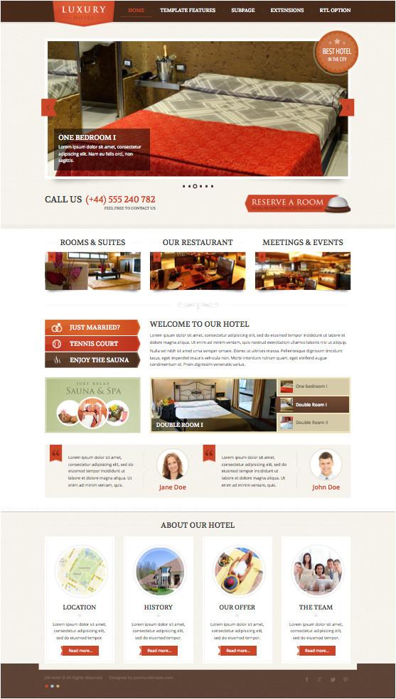 jm hotel joomla template for luxury restaurants rooms suites