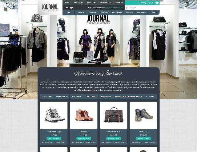 Journal Opencart Template 50 Best Responsive Opencart themes Webprecis