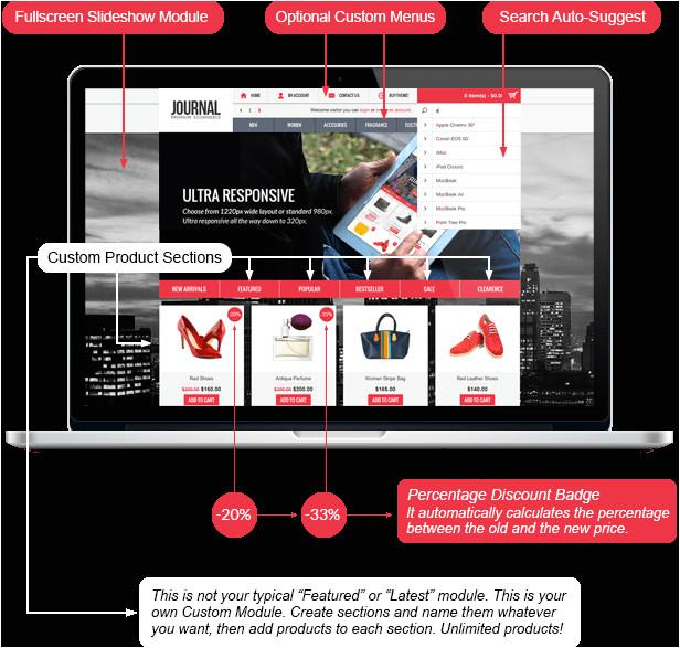 journal premium responsive opencart theme