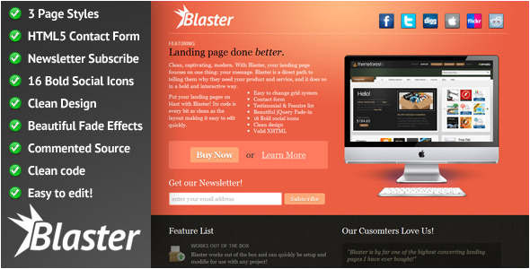 Jquery Landing Page Templates Jquery Landing Page Effect HTML Template Creative Template