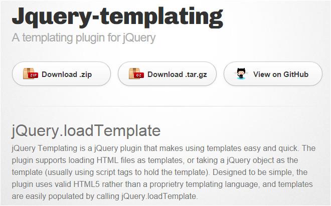 jquery template un plugin di templating per jquery
