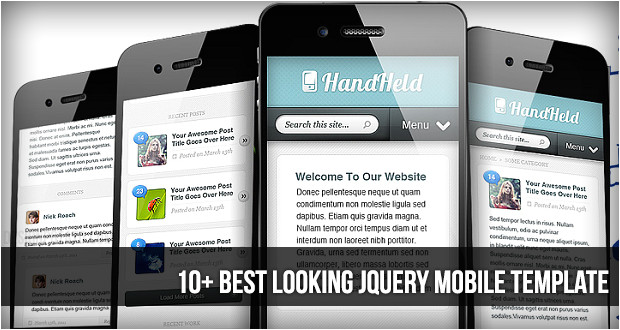 10 best looking jquery mobile templates