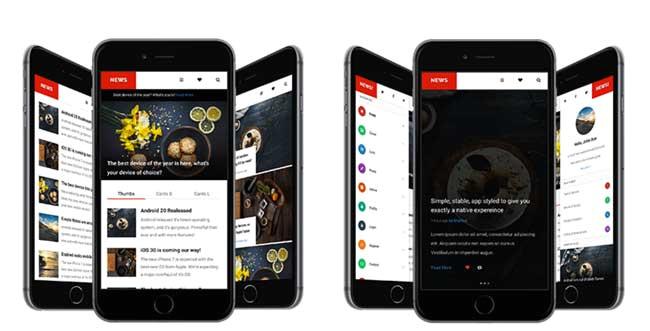 best jquery mobile web templates