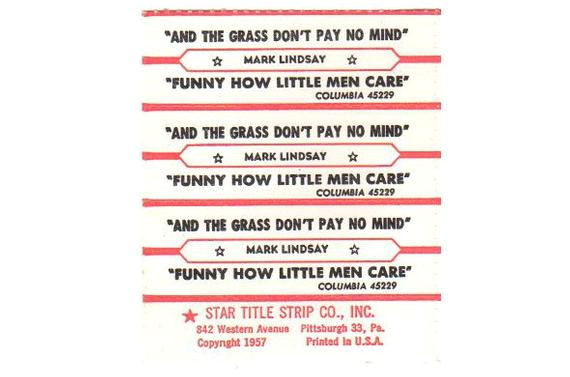 vintage jukebox labels song title tag