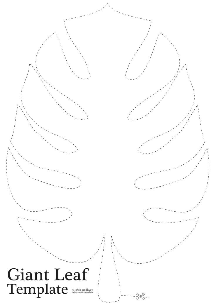 Jungle Leaf Templates to Cut Out Jungle Leaf Template Clip Art Pinterest Template