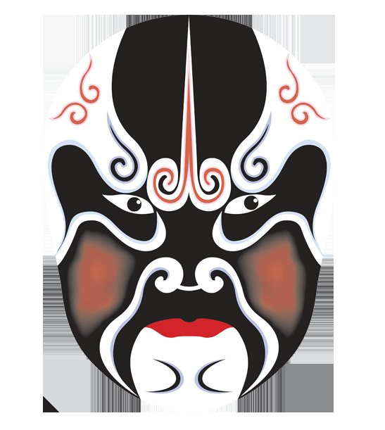 top mask kabuki peking opera chinese opera costume black mask pattern kabuki mask template