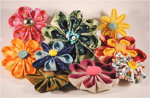 Kanzashi Flower Templates New toys Clover Kanzashi Flower Templates