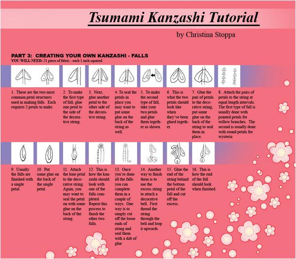 kanzashi tutorial part 6 44715867