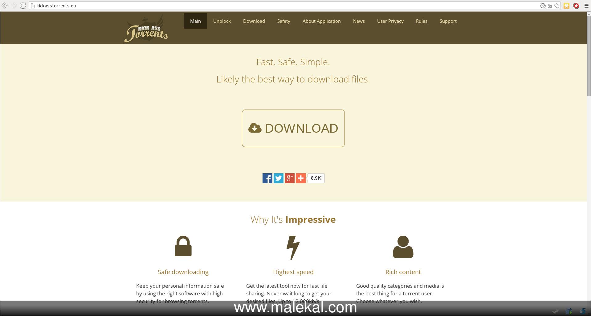 kickasstorrents faux sites et arnaque