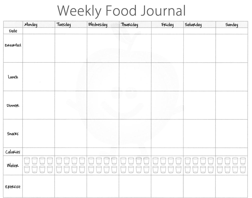 Keeping A Food Diary Template 5 Free Food Journal Templates Excel Pdf formats