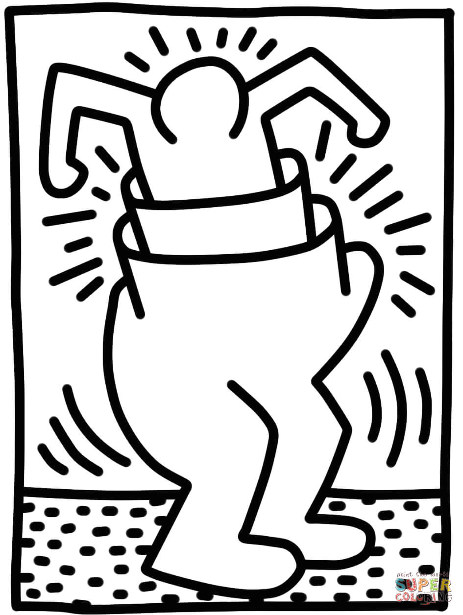 Keith Haring Figure Templates Keith Haring Free Coloring Pages