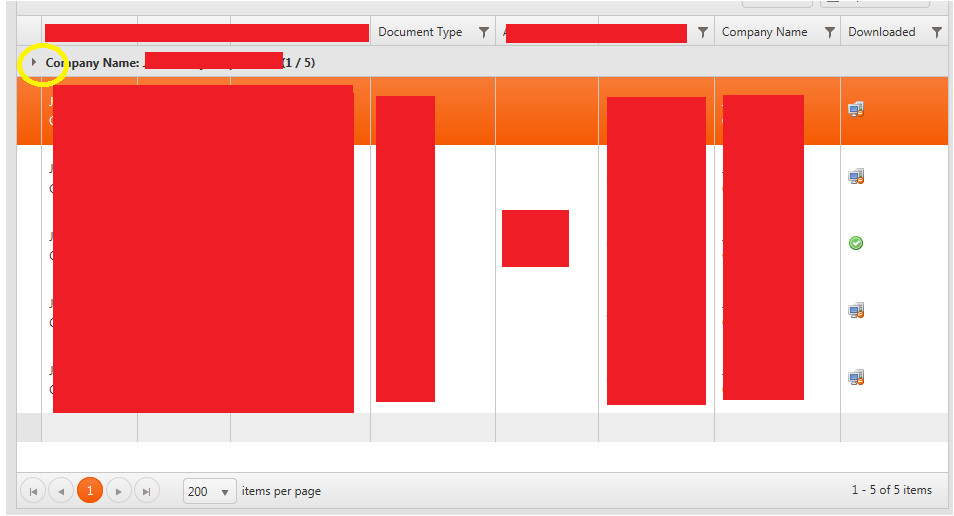kendo ui grid group header not collapsed when using row template