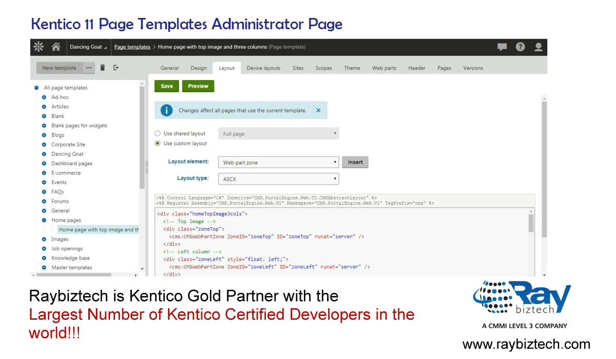 kentico email template