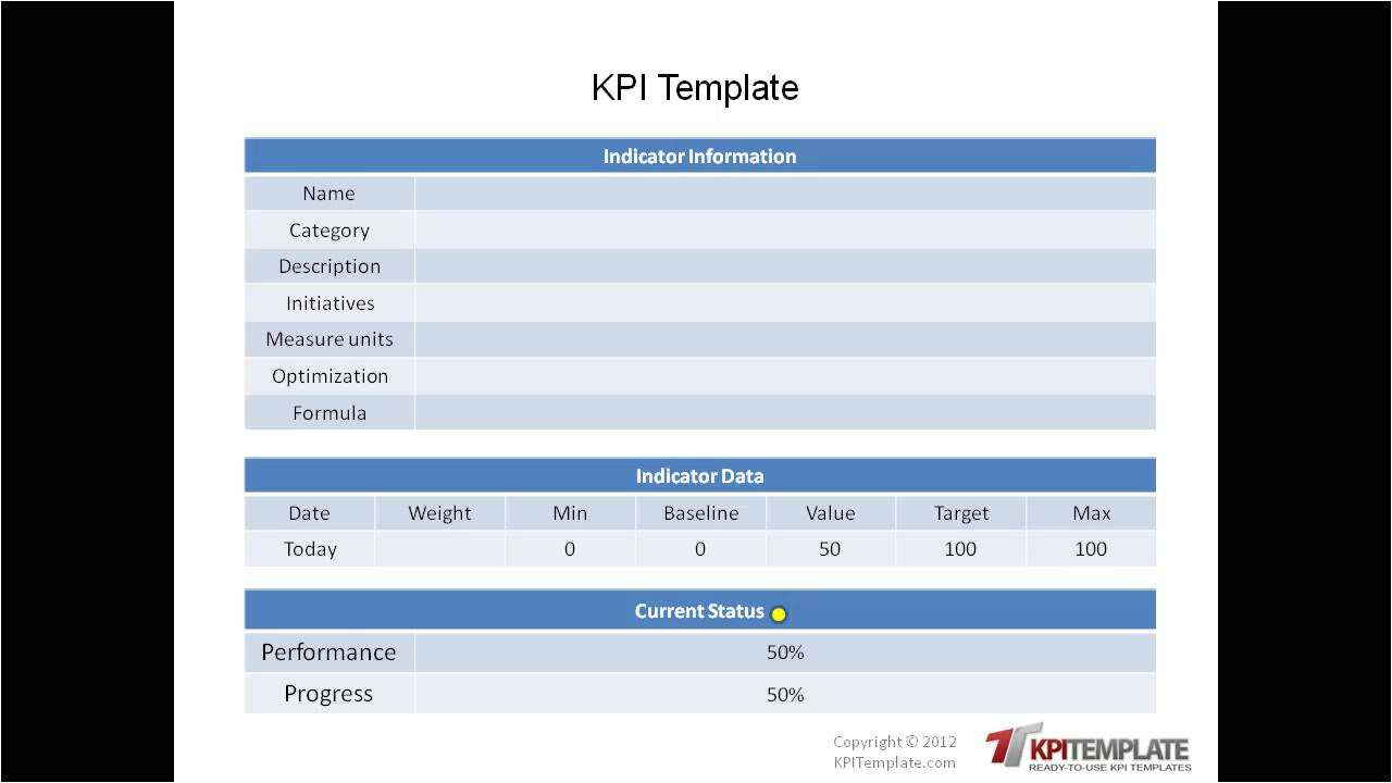 Key Performance Indicator Report Template Ready to Use Kpi Templates Youtube