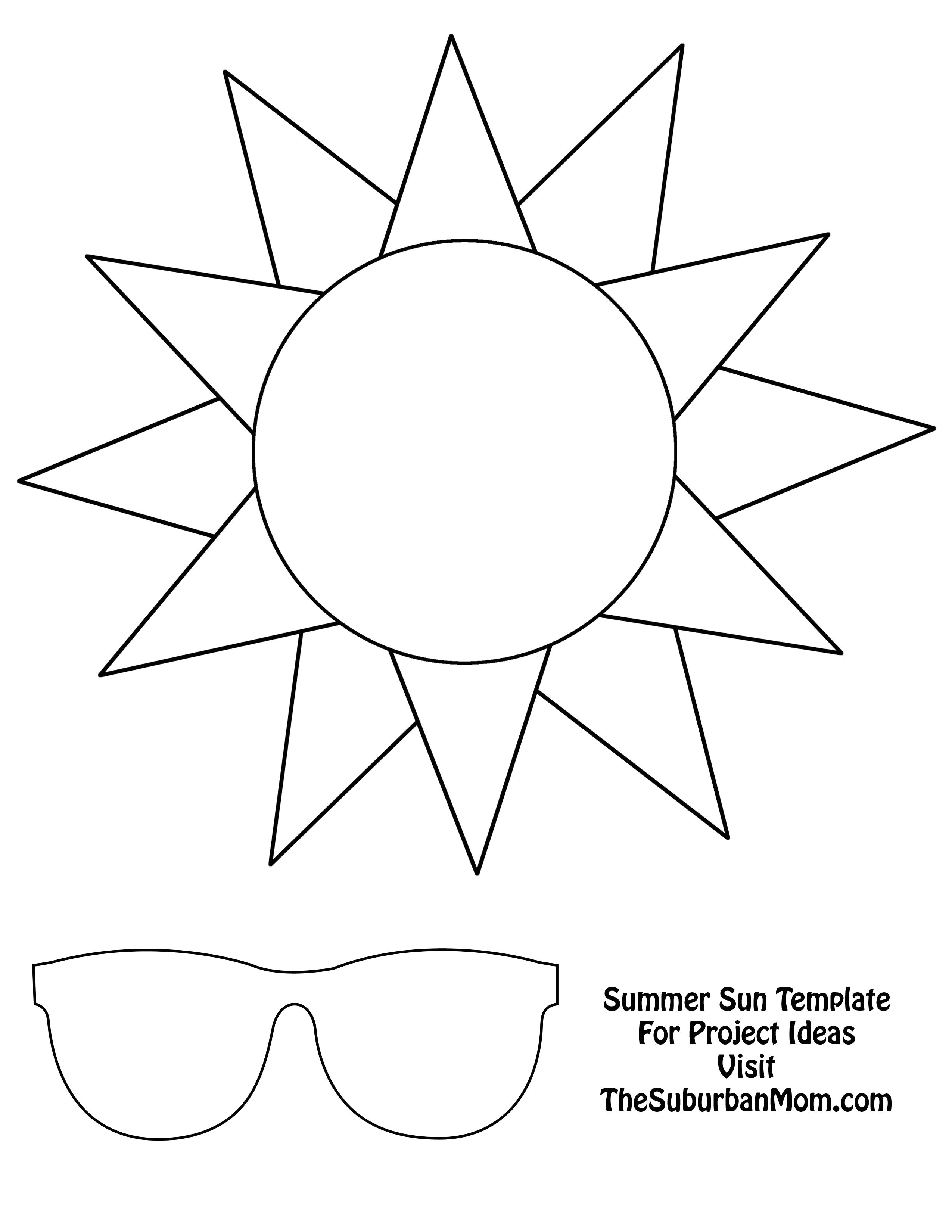 Kid Cut Out Template Countdown to Summer Craft Template Kids Pinterest