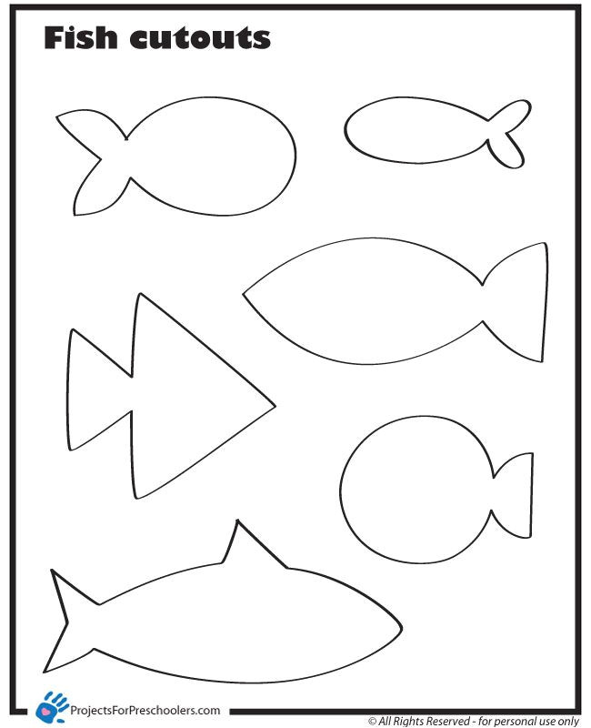 Kid Cut Out Template Use these Fish Cut Outs to Make Fishing for Feelings Games