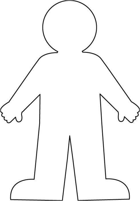 Kid Cut Out Template Worksheet with A Blank Body Outline Google Search