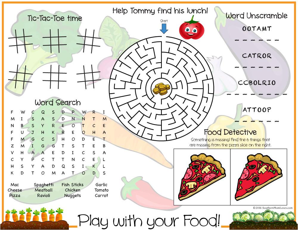 play with your food printable kids
