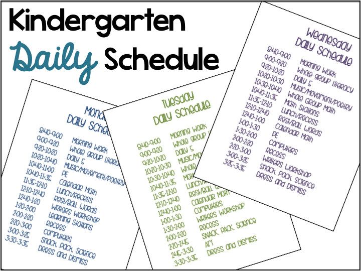 a differentiated kindergartens daily