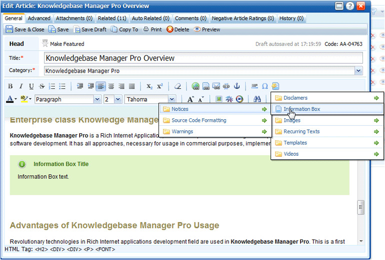 Knowledge Base Document Template What S New In Knowledge Base Manager Pro V5 2