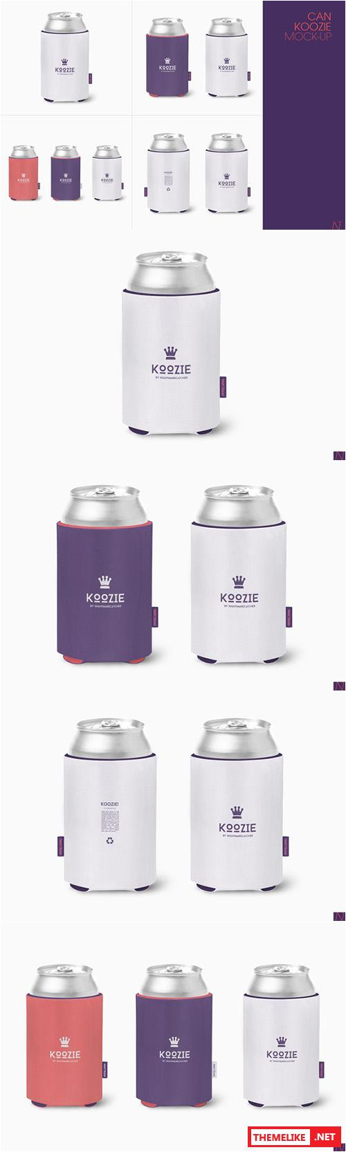 Koozie Design Template Creativemarket Can Koozie Mock Up 266053 All Design