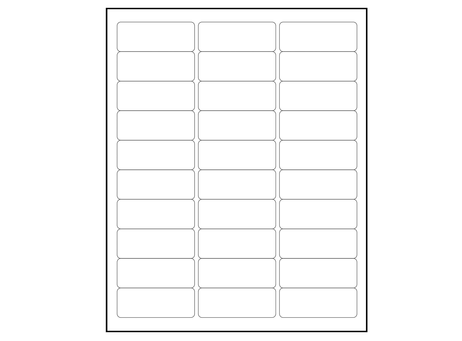 5160 label template blank