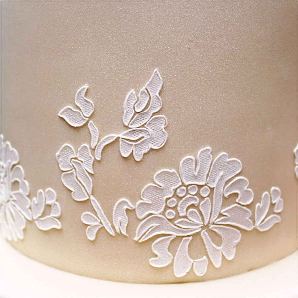 Lace Templates for Cakes Floral Lace Stencil