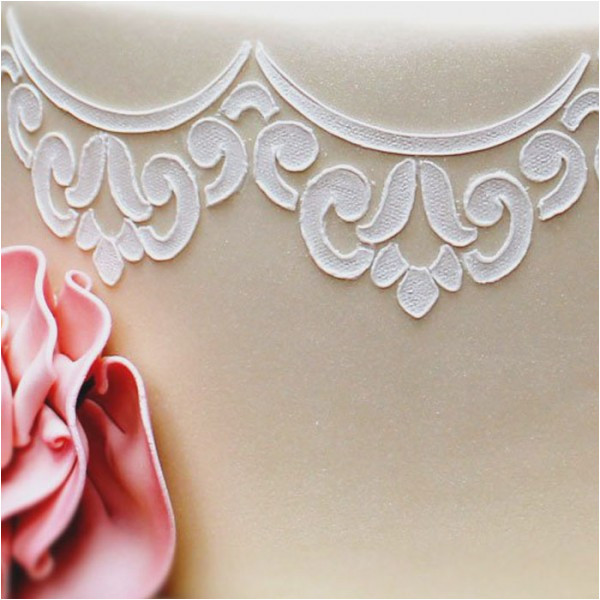 Lace Templates for Cakes Scalloped Lace Stencil