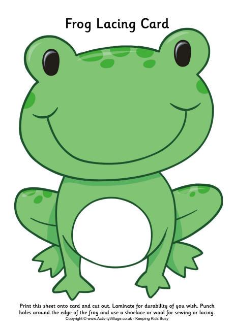 frog lacing card