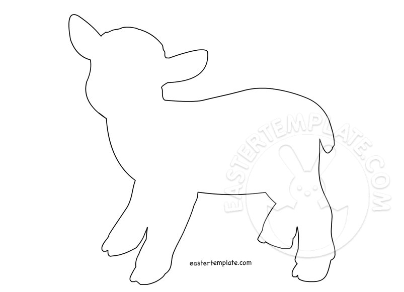 easter lamb template coloring page