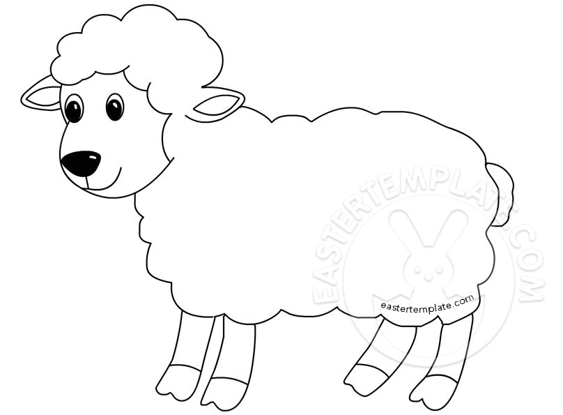 Lamb Template to Print Easter Template Have Fun with Free Printables Easter