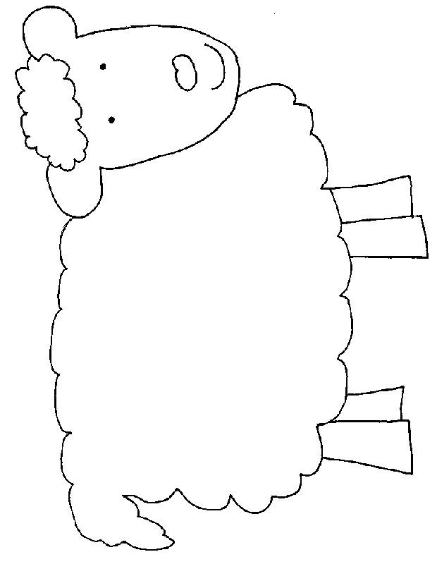 sheep templates printable
