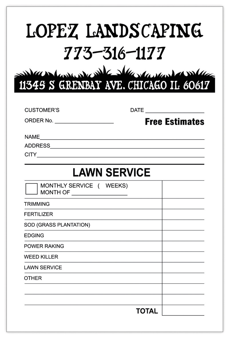 landscaping invoice template 2766
