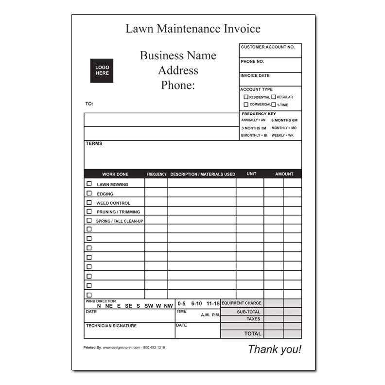 63 landscaping invoice forms