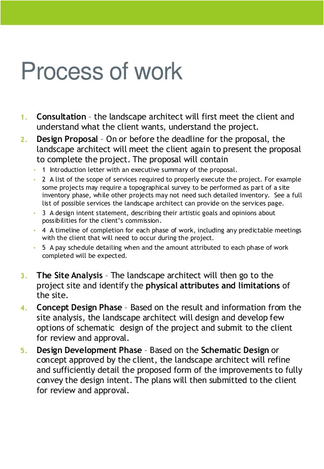 Landscaping Scope Of Work Template Company Profile Tw Landscaping