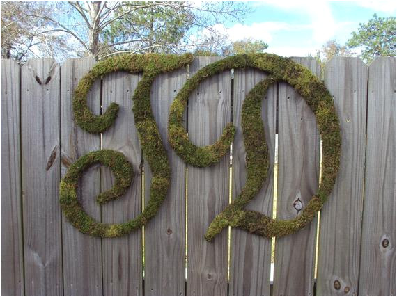 moss covered letter 24 rustic wedding