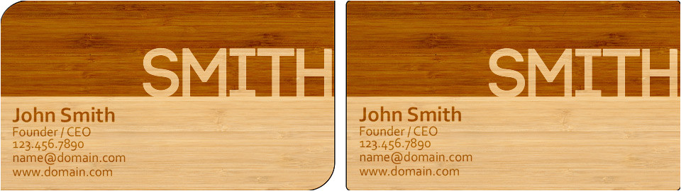 laser engraved business card templates