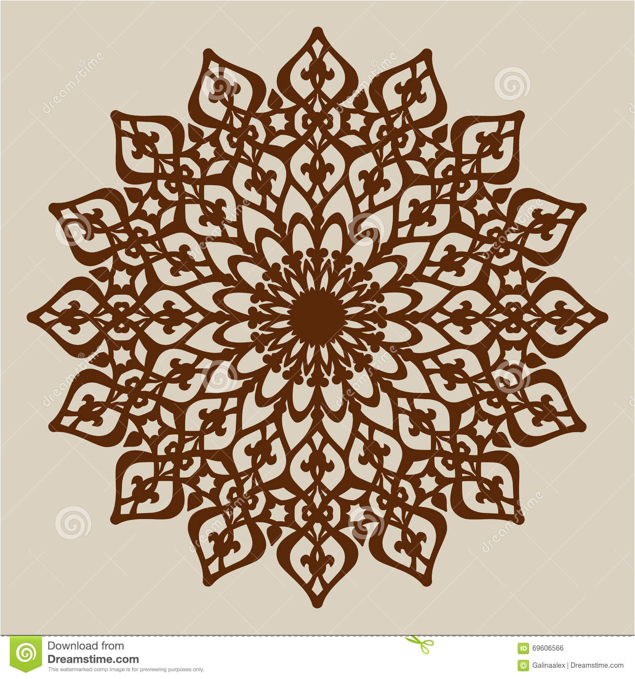stock illustration template mandala pattern decorative rosette picture suitable printing engraving laser cutting paper wood metal image69606566