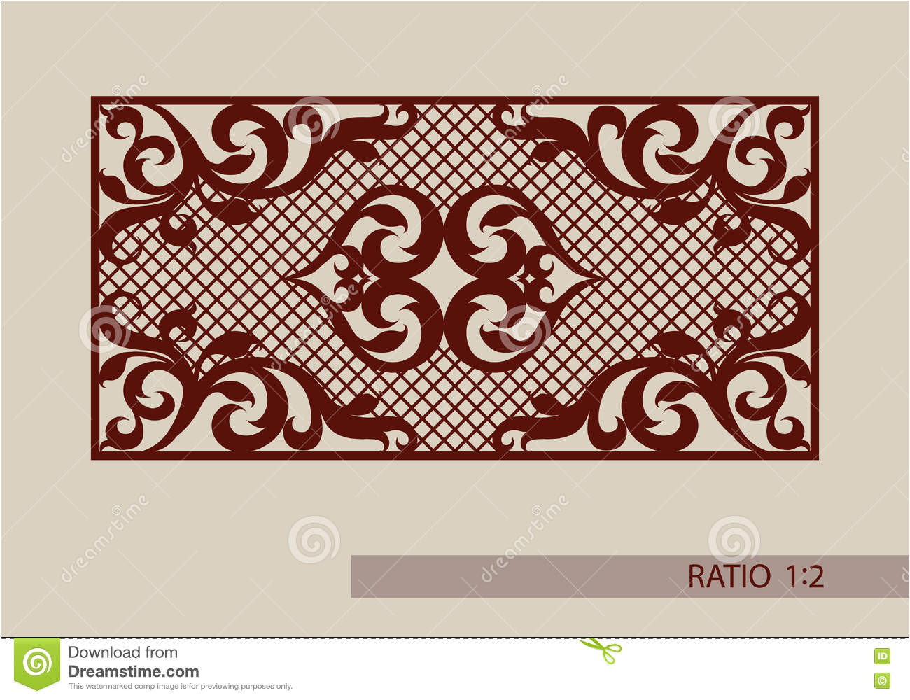 stock illustration template pattern laser cutting decorative panel floral ornament picture suitable paper printing engraving image75439950