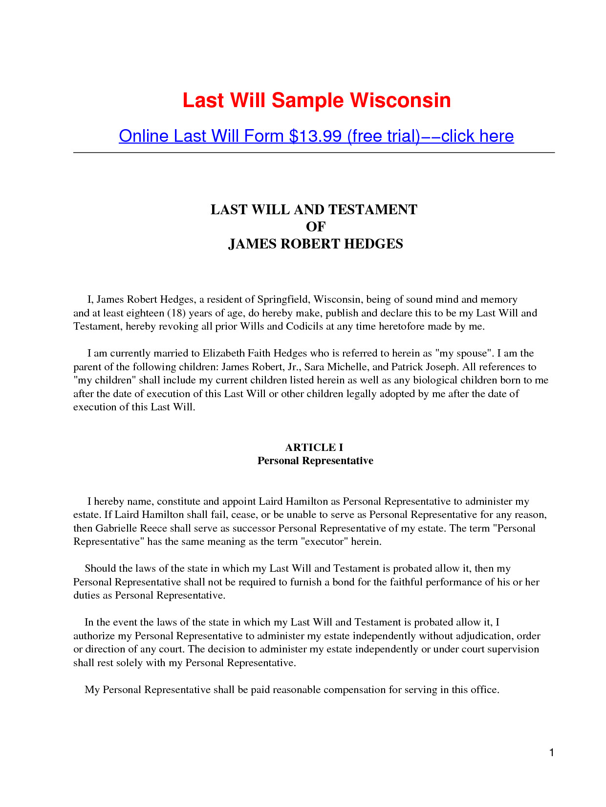 post free printable legal wills 401560