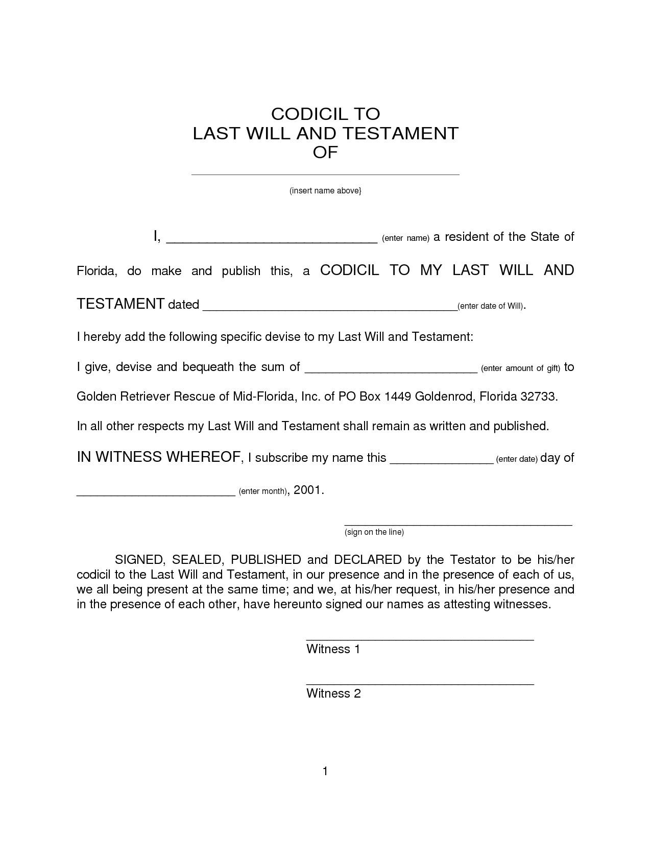 free printable wills