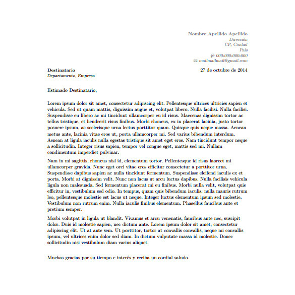 Layout Of A Covering Letter 5 Latex Cover Letter Templates Free Sample Example